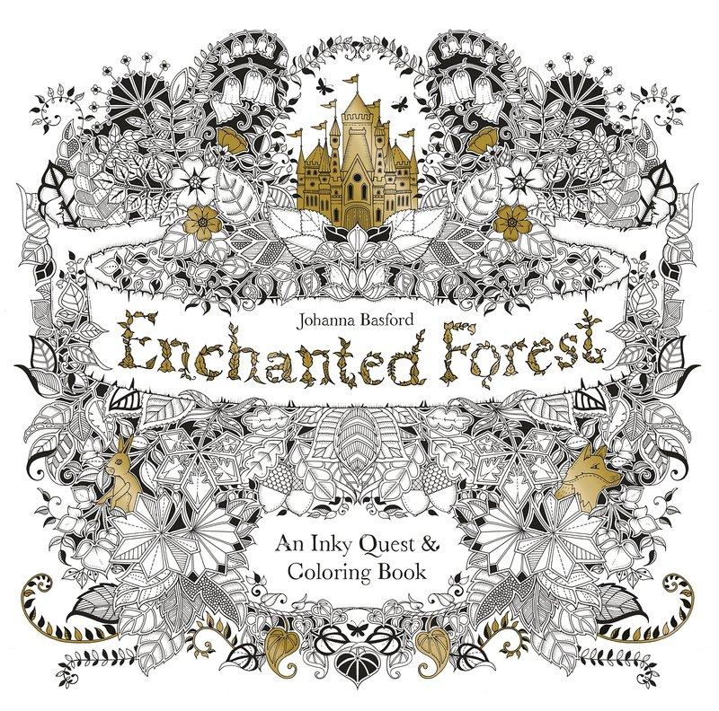 Enchanted Forest: An Inky Quest and Colouring Book